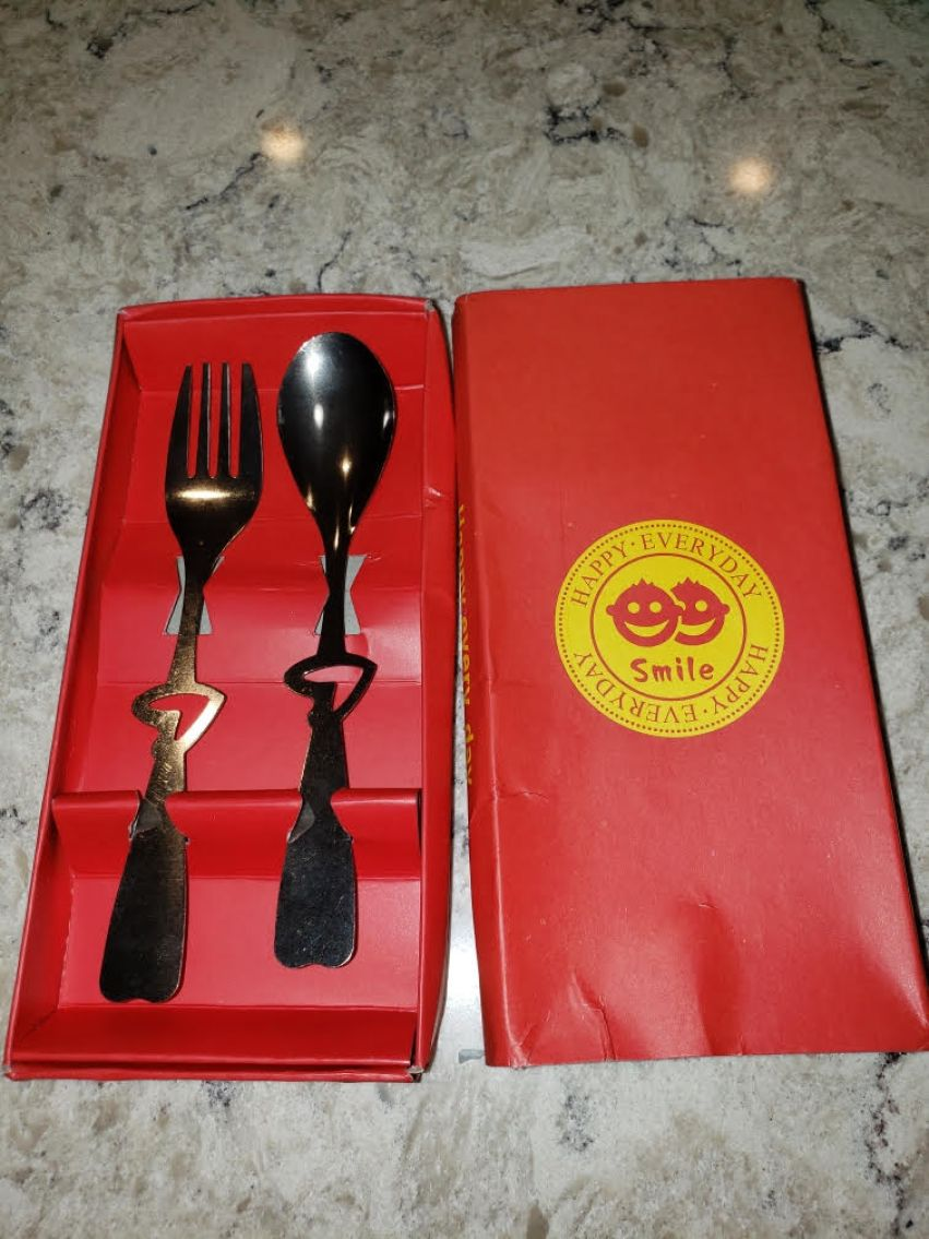 Mystery package of utensils from China.