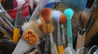 can of paintbrushes by Cathy Salustri
