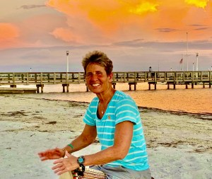 drum circle on Gulfport beach via Lisa Bromfield
