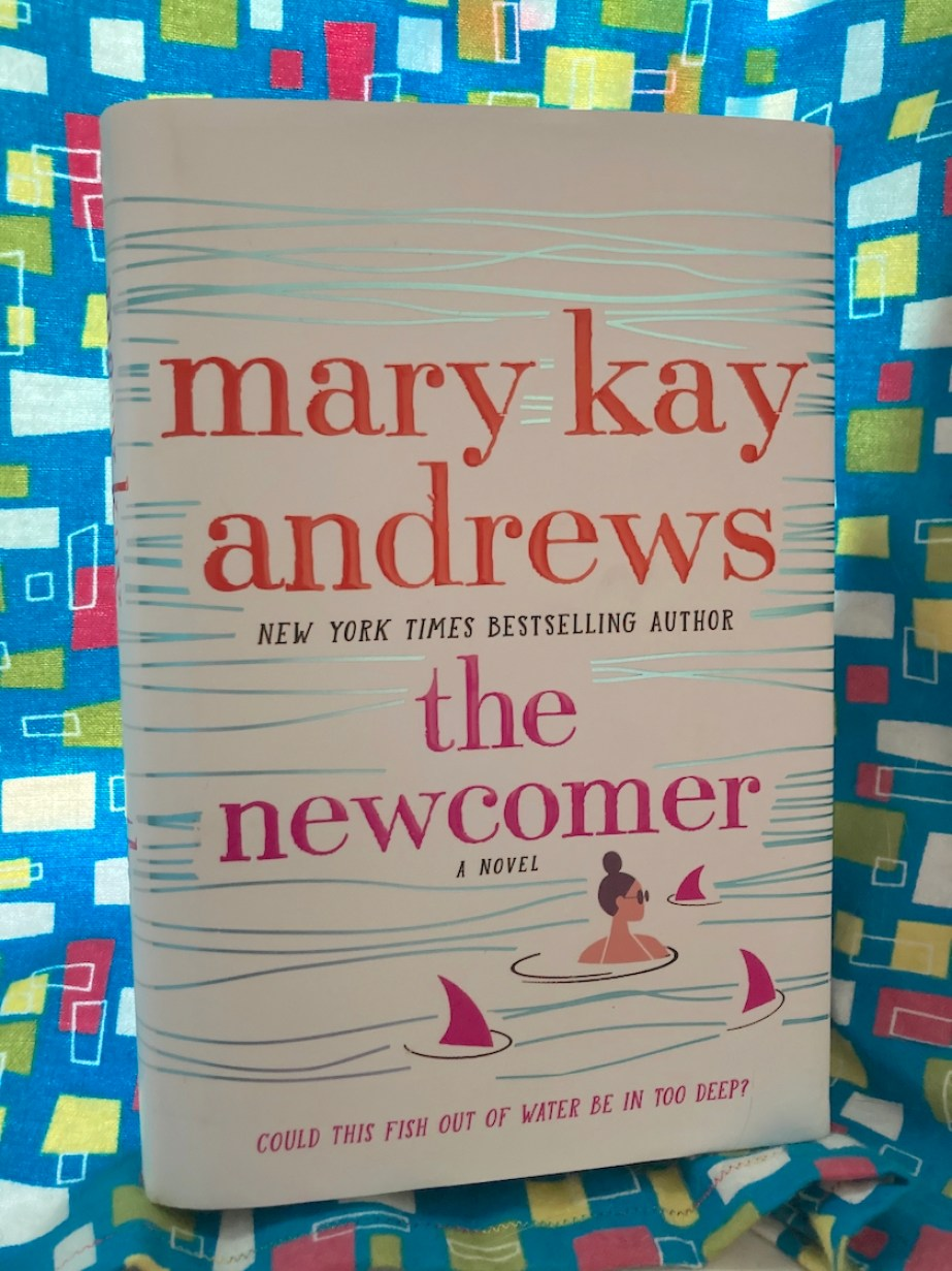 """A photo of the cover of a book titled """"The Newcomer by Mary Kay Andrews"""""""