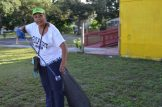 Gulfport Vice Mayor Yolanda Roman joined the cleanup.