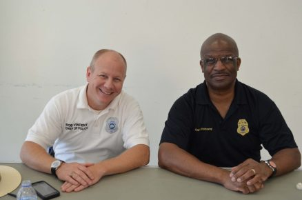Gulfport Police Chief Rob Vincent and St. Petersburg Police Chief Tony Holloway participate in Chief's Chat Saturday, October 3.