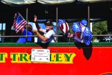 Gulfport's New Horizons Band ride the city's events trolley in the parade. They later played at the Casino.