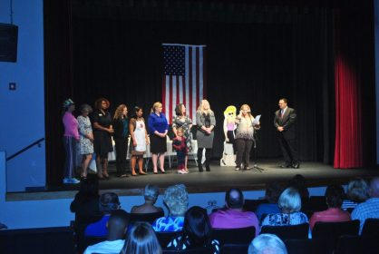 Finalists in Small Business Administration's InnovateHer challenge made their appearance on stage at the Catherine Hickman Theater on December 2.