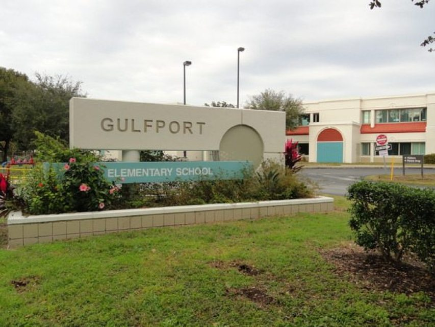Sign in front of Gulfport Elementary School