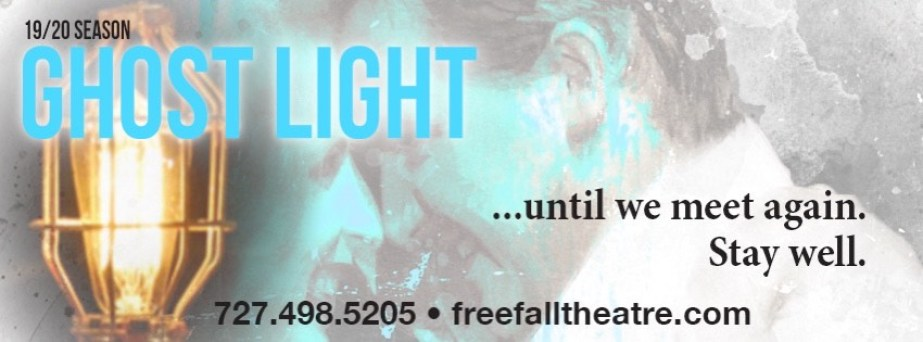 """freeFall Theatre is among several local theaters and performance venues looking for new ways to engage audiences while maintaining social distancing guidelines. """"Ghost light"""" refers to the practice of leaving an electric light on the stage when the theater is unoccupied and would otherwise be completely dark. Graphic courtesy of freeFall Theatre."""