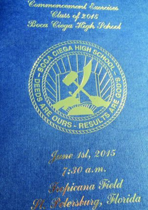 Gulfport Vice Mayor Yolanda Roman snapped this picture of the graduation program at Monday's ceremony. Roman helped to pass out diplomas as a representative from the city of Gulfport.