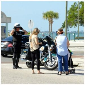 St Pete Police Escort Tourists