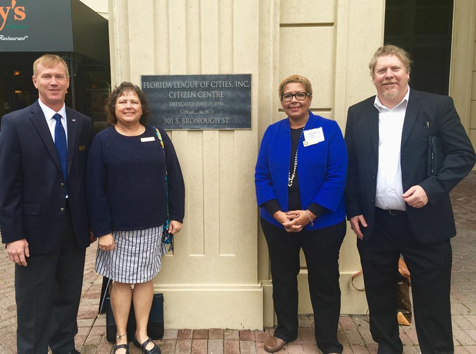 Four of the five Gulfport Councilmembers – from left, Dan Liedtke, Christine Brown, Vice Mayor Yolanda Roman and Mayor Sam Henderson – who attended the Florida League of Cities Legislative Action Days Febraury 2 and 3. Not pictured, but present, was Michael Fridovich.