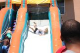 The water slides behind the Rec Center were a big hit with the little ones.