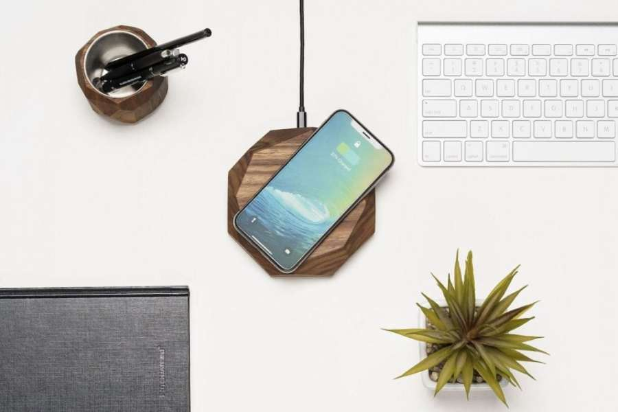 Best Apple iPhone X Accessories Curated from Gadget Flow Oakywood Wood Wireless Charger