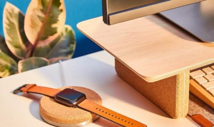 Grovemade Cork Apple Watch Dock