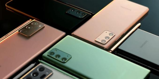Samsung Galaxy Note20 and Note20 Ultra Mystic Color Smartphones