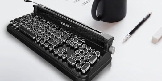 Fineday Retro Bluetooth Typewriter Keyboard