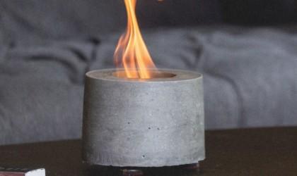 FlÎKR Fire Personal Concrete Fireplace