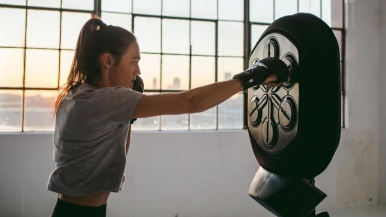 Liteboxer boxing machine in use