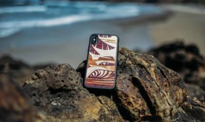 Rustek x Abel Arts Sun Sets West Inlay wood iPhone 12 case