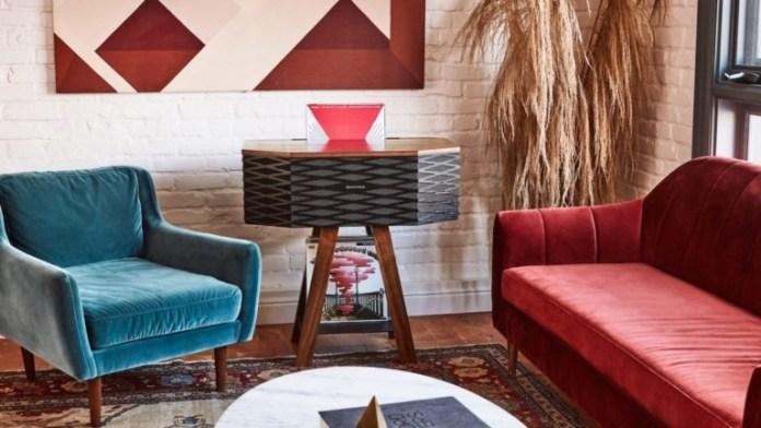 Wrensilva Loft wood record console