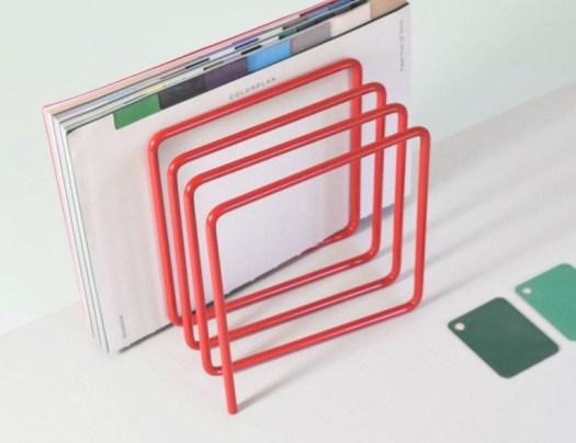Block Steel Magazine Rack