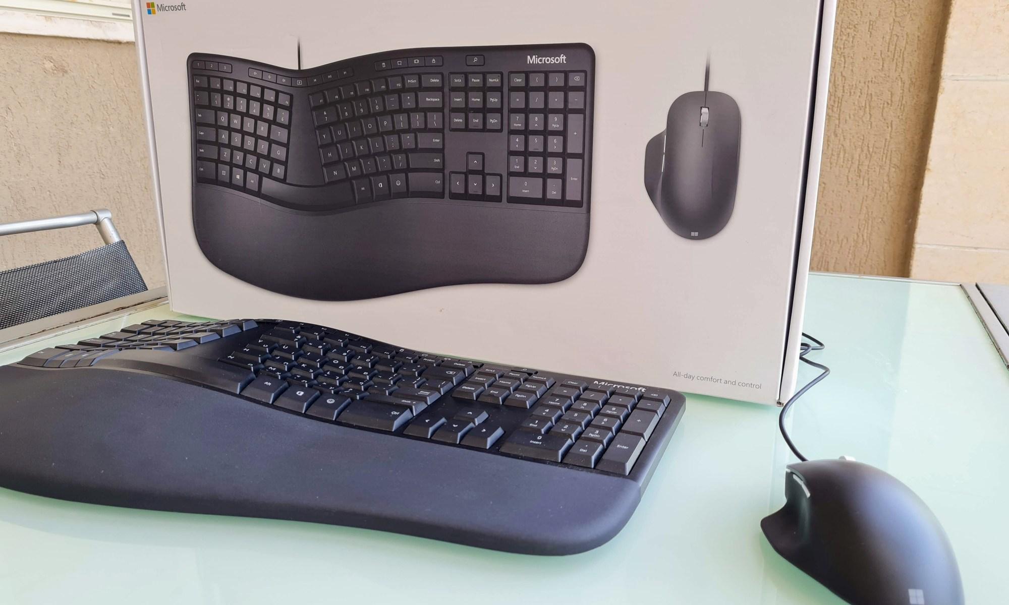 מיקרוסופט Ergonomic Desktop. צילום צחי הופמן