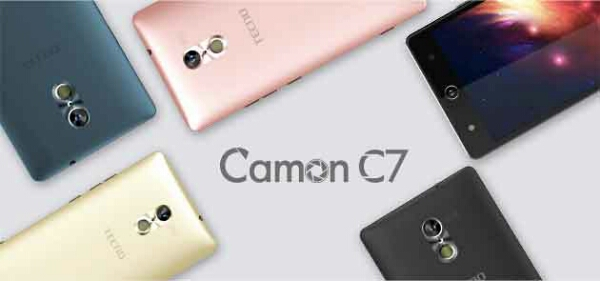 Official: Tecno Camon C7 with Android 6.0, 13MP Front Selfie Camera and Eye Scanner