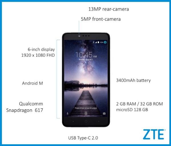 ZTE Zmax Pro with Fingerprint Scanner and USB Type-C Costs $99 via MetroPCS