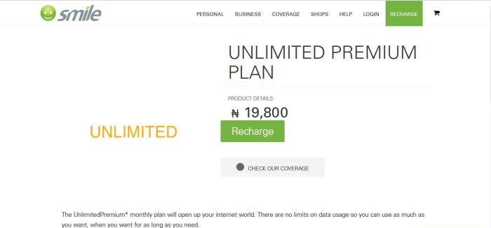 SMILE Unlimited Premium monthly plan will open up your internet world.