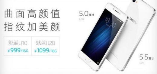 Meizu U10, Meizu U20 YunOS Smartphones Debuts in China