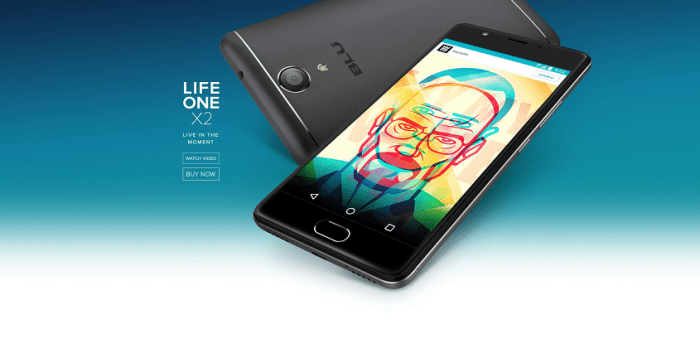 BLU Life One X2 Debuts with 5.2-inch FHD Display, SD430 SoC, and Fingerprint Sensor