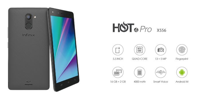 Infinix HOT 4 Pro X556 Specifications