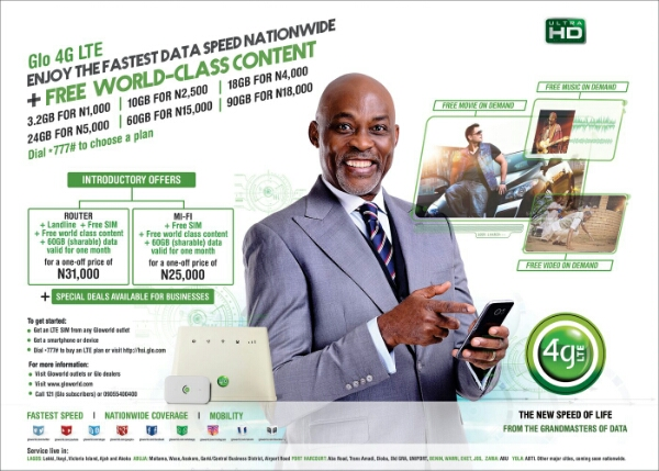 Glo 4G LTE Service Now Available in Nine Nigerian cities