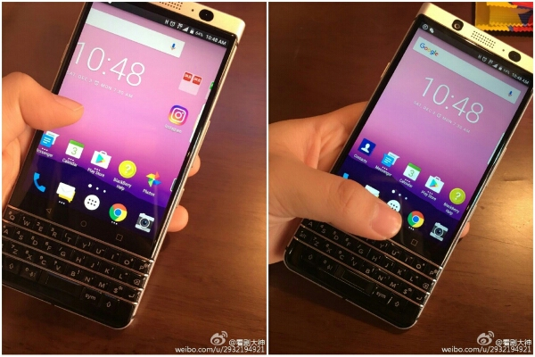 Live Images of Blackberry Mercury with QWERTY Keyboard Surfaces