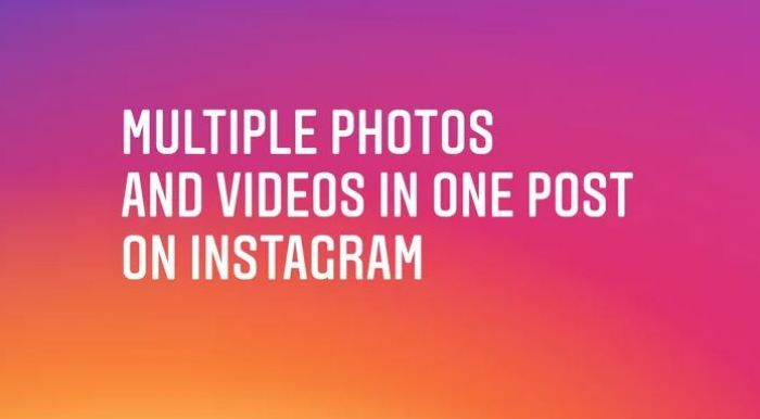 You Can Now Post Multiple Photos On Instagram