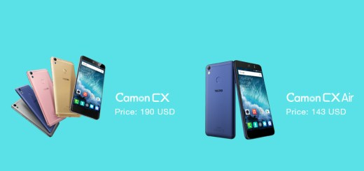 Official: Tecno Camon CX with 16MP Front Camera + Camon CX Air With 13MP Front Camera