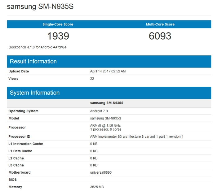 Samsung Galaxy Note 7R will have Android 7.0, 4GB RAM, 3200mAh Battery