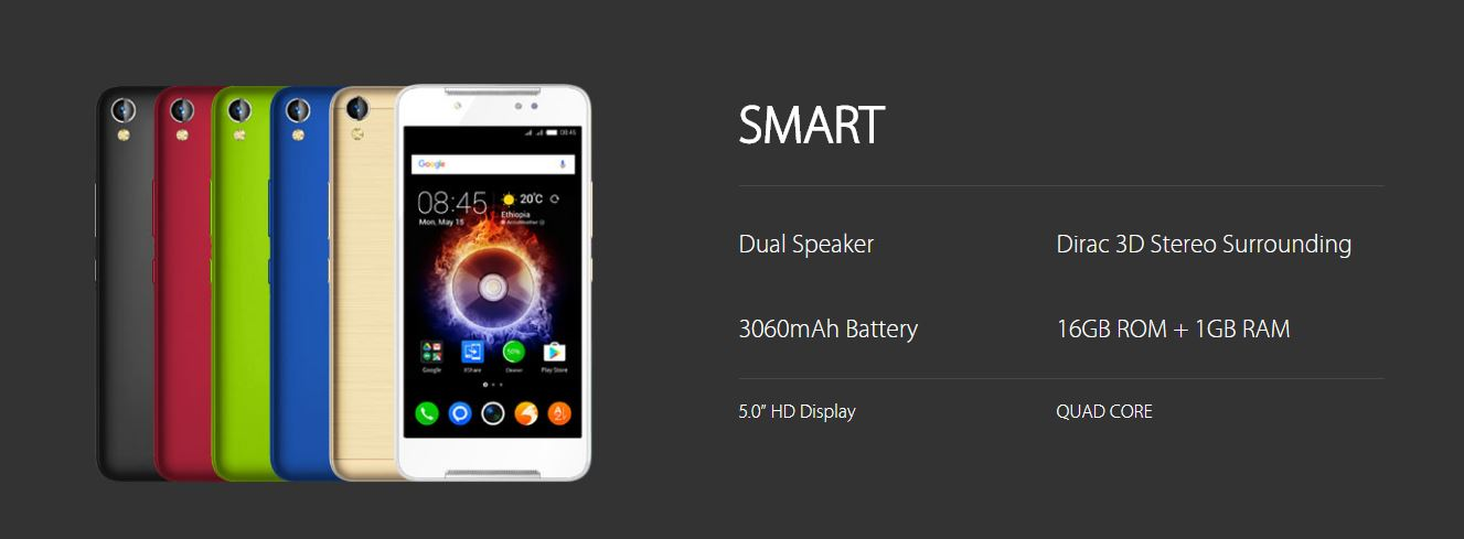 Infinix Smart (X5010) Debuts With 5-inch display, 1GB RAM