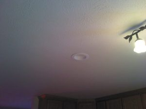 recessed light leaks