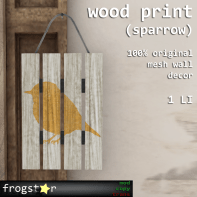 Frogstar - Wood Print (Sparrow) Poster