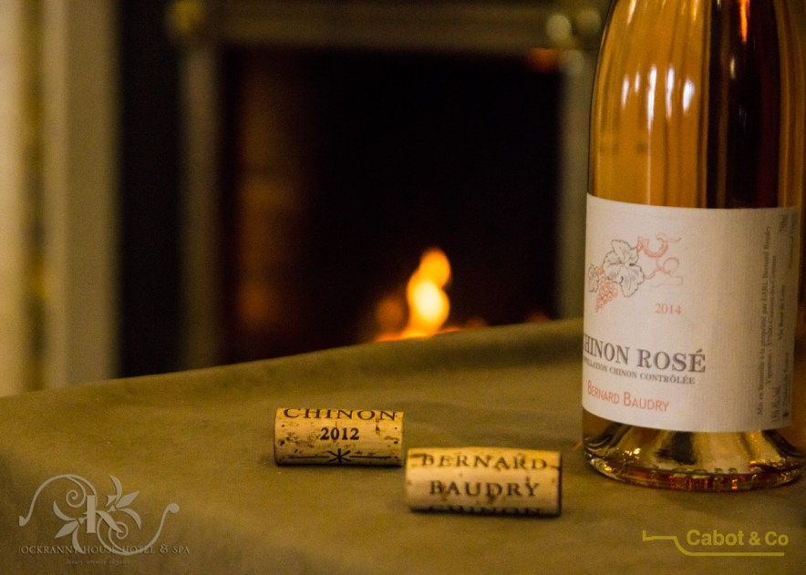 Rose wine by a roaring fire at Knockranny House Hotel, Westport