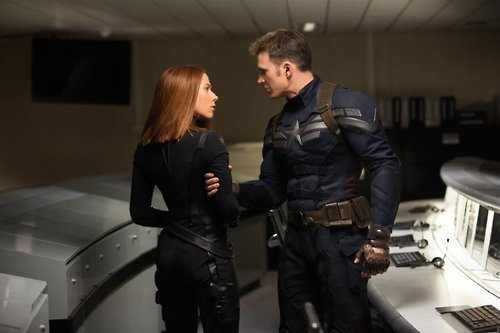 Captain America The Winter Soldier Review - Rogers and Romanov