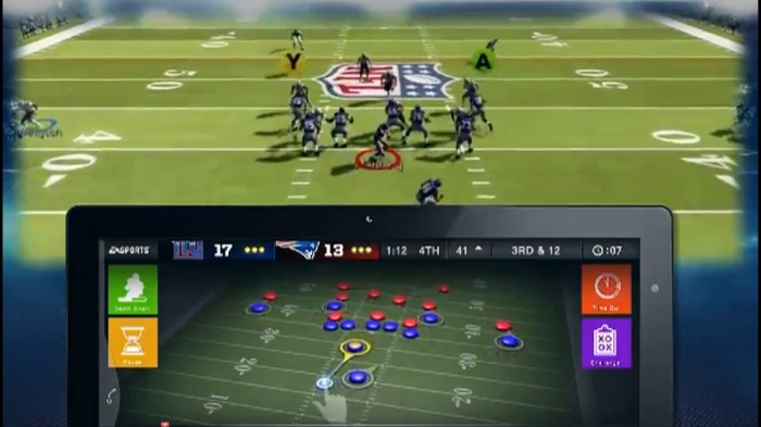 SmartGlass gives users more space and imput methods on games such as Madden
