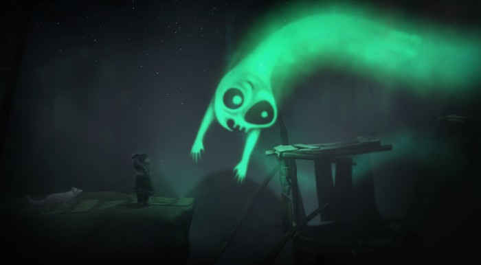 Sky people descend from the auroras and try to snatch you up.