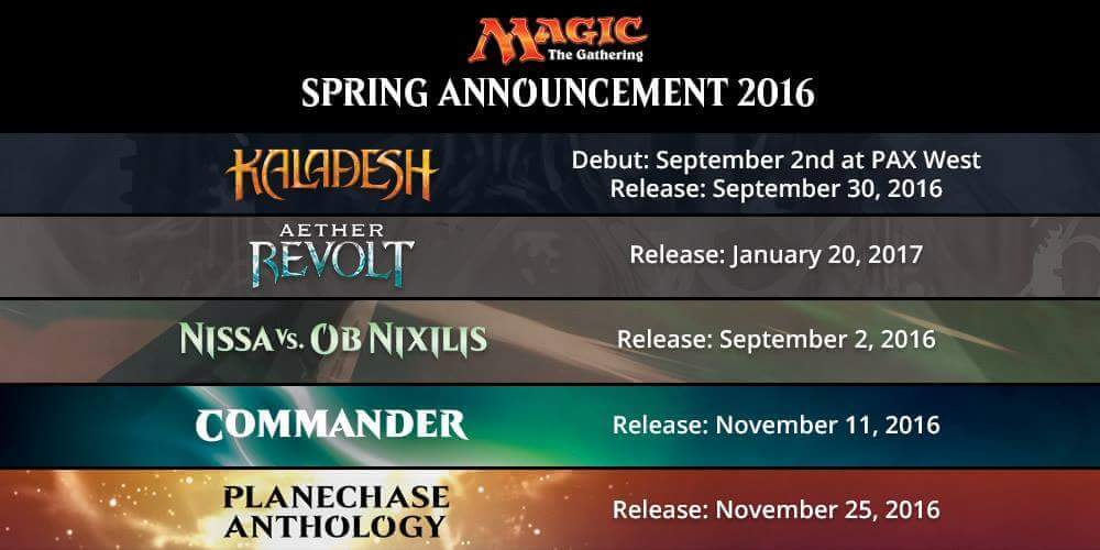 Wizards of the Coast Announces Five New Products for Magic the Gathering