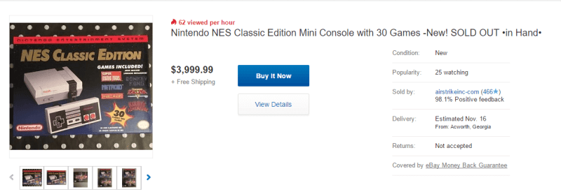 Let's see... Wait for the $60 version to restock, or pay $4000 to get one on eBay...