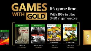 March 2017 Games With Gold Lineup