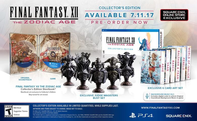 Final Fantasy XII Zodiac Age Collectors Edition