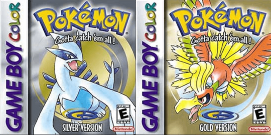 Pokemon gold and silver box art