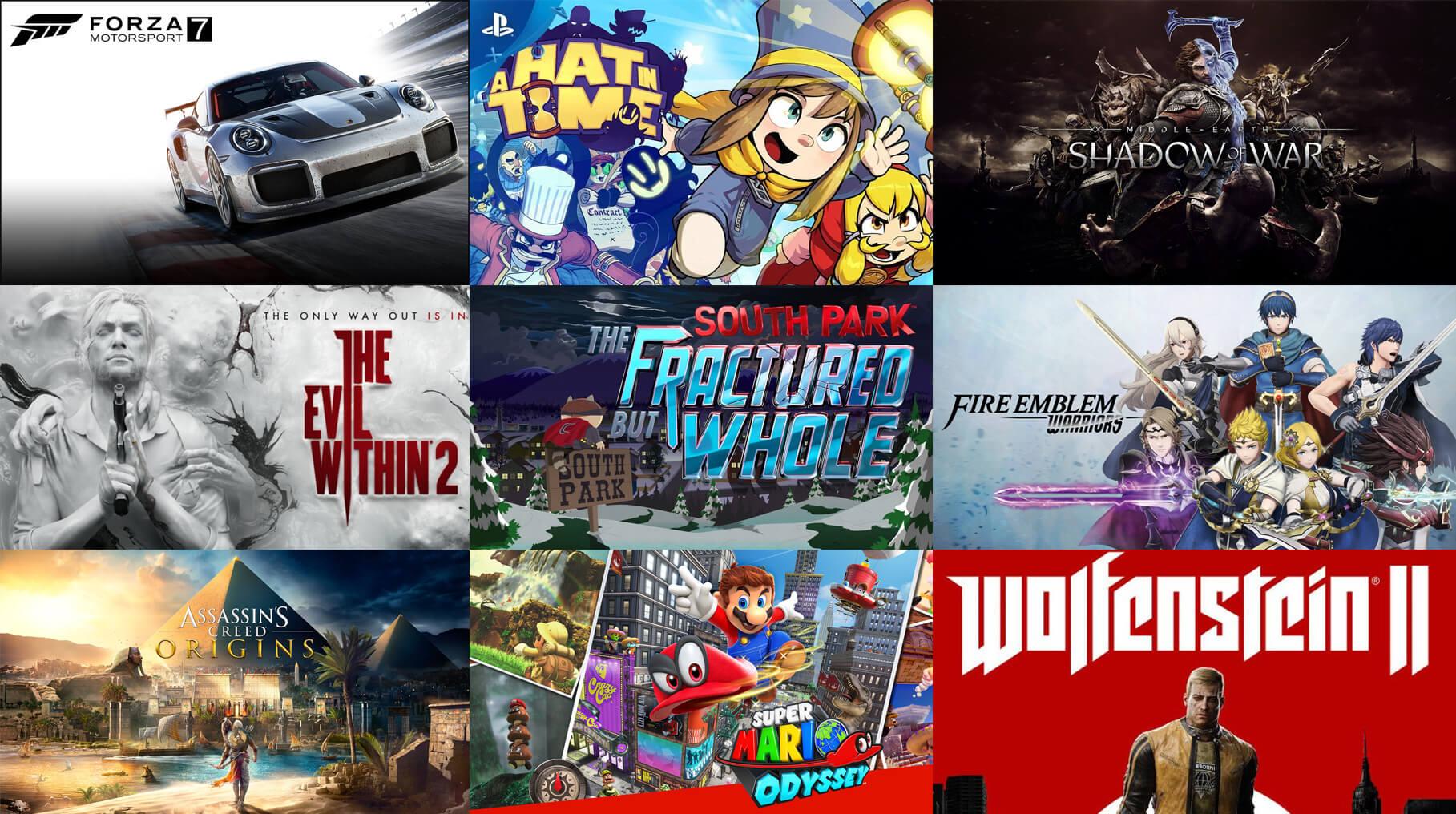 Upcoming Games October 2017