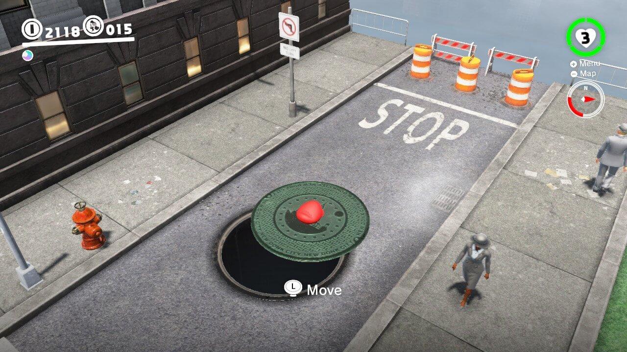 Manhole Capture Mario Odyssey