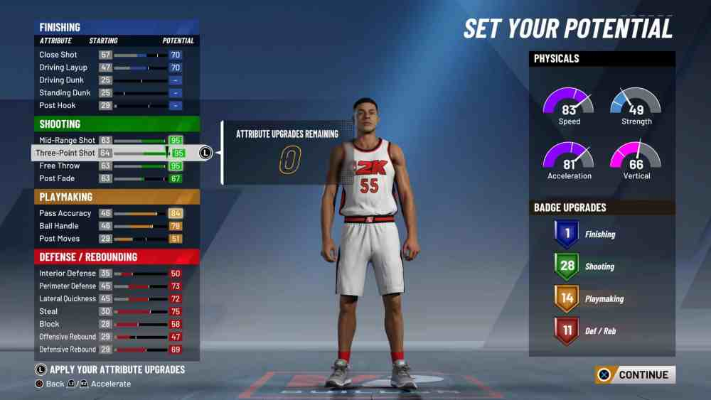 NBA 2K20: Set Your Potential